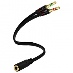 3.5mm Stereo Audio & MIC Splitter (15cm)